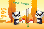 Play Panda Eggs Volleyball Online