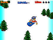 Playing Super Snowboard