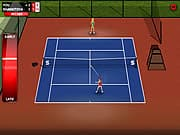 Playing Stick Tennis