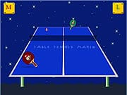 Playing Table Tennis Mario