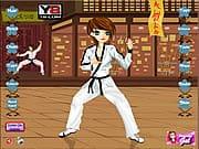 Playing Karate Girl Dress Up
