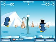 Playing Penguin Volleyball