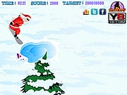 Playing Snowboarding Santa